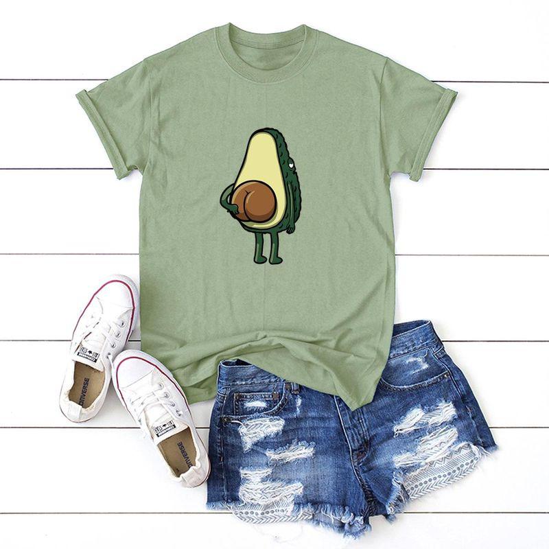 New fun spoof avocado short sleeve women T comfortable casual T-shirt NHSN206420
