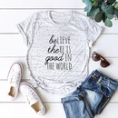 New Product Casual Letter Cotton Print Womens Short Sleeve TShirt NHSN206428