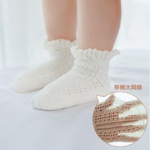 Summer thin section children's cotton socks wholesale loose mouth transfer lace baby socks hollow non-slip baby socks NHER206435's discount tags