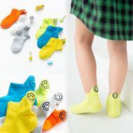 Calcetines cortos de algodón para niños primavera nueva sonrisa fluorescente bordado de cara bordados calcetines para niños calcetines transpirables para niños NHER206438
