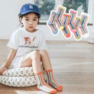 Verano nuevo coreano coreano de cristal de seda delgados niños calcetines de malla de los niños medias de los niños verticales NHER206442