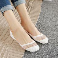 Calcetines de barco de verano para mujer, calcetines invisibles de seda transpirable ultrafina al por mayor, calcetines invisibles NHER206443