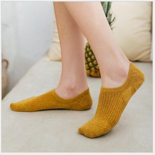 New spring new invisible socks ladies low-top shallow mouth boat socks solid color socks NHER206452's discount tags