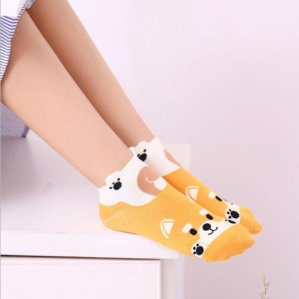 New socks wholesale Korean fashion female cotton socks cartoon cute socks boat socks NHER206455