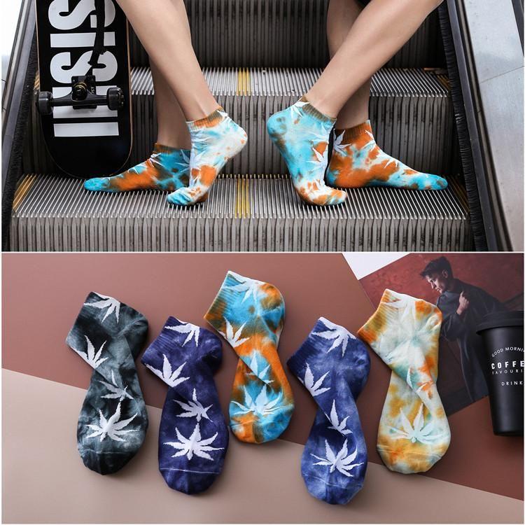 Spring and summer new men's boat socks wholesale tide socks men hip hop sports maple socks NHER206462