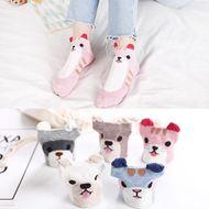 Calcetines de algodón femeninos de dibujos animados calcetines femeninos de dibujos animados estéreo de primavera al por mayor calcetines bajos casuales frescos salvajes NHER206463