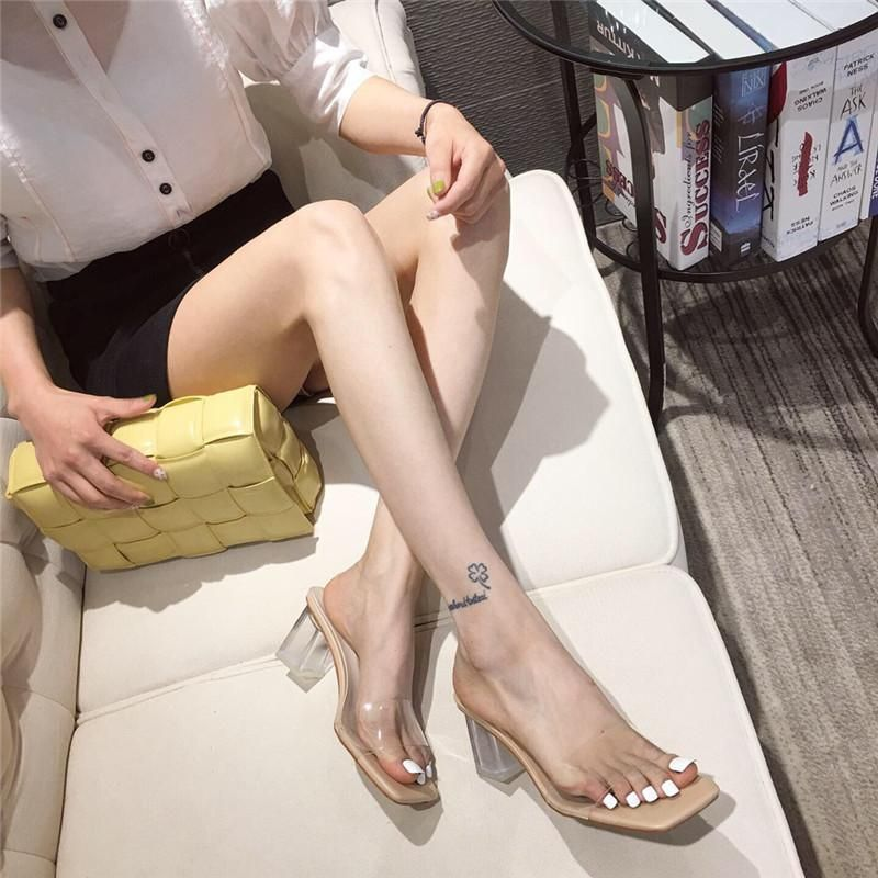Summer new style high heels transparent crystal with sandals women's shoes wholesale NHEH206274