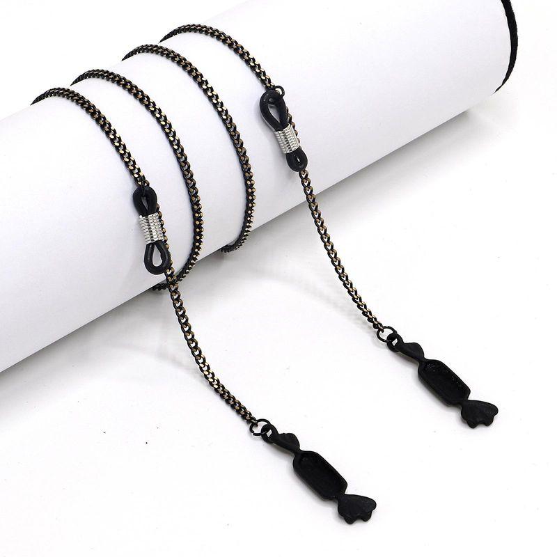 New fashion simple black pendant chain glasses chain wholesale NHBC208074
