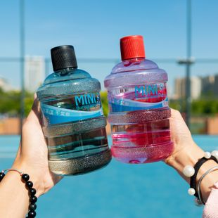 Korean new creative mineral water bottle mini bucket simple large capacity water cup NHtn208090's discount tags
