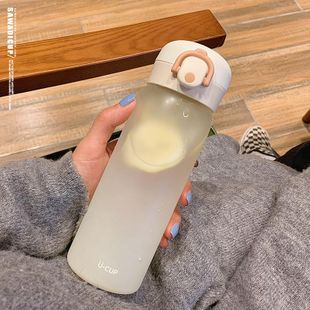 New fashion glass cup simple and cute with tea compartment creative portable frosted cup NHtn208092's discount tags