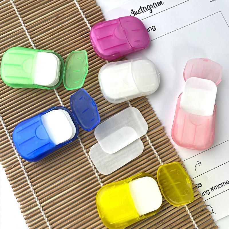 Handwashing soap tablets disposable travel boxed fragrance type paper soap tablets wholesale NHMP208103