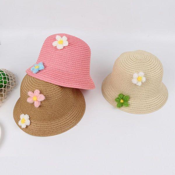 Straw hat summer cute sun hat fashion sunscreen cool hat baby hat NHTQ208119