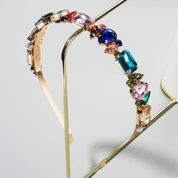 Korean new fashion baroque fashion alloy inlaid diamond glass cheap headband wholesale NHLN208149