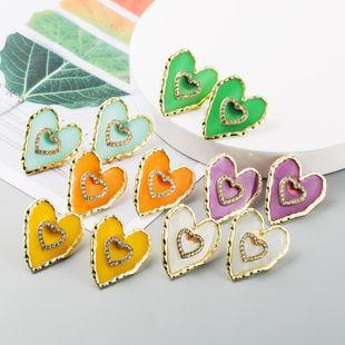 Coreana nueva aleación de diamantes gota de aceite de múltiples capas pendientes en forma de corazón yiwu nihaojewelry al por mayor NHLN208155's discount tags