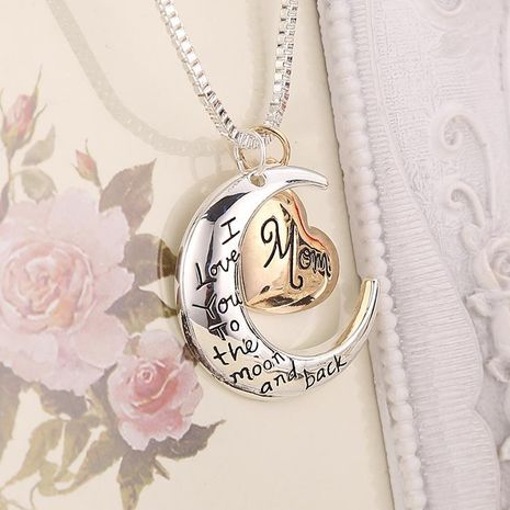 New fashion love pendant i love you mom sweater chain necklace yiwu nihaojewelry wholesale NHMO208172's discount tags
