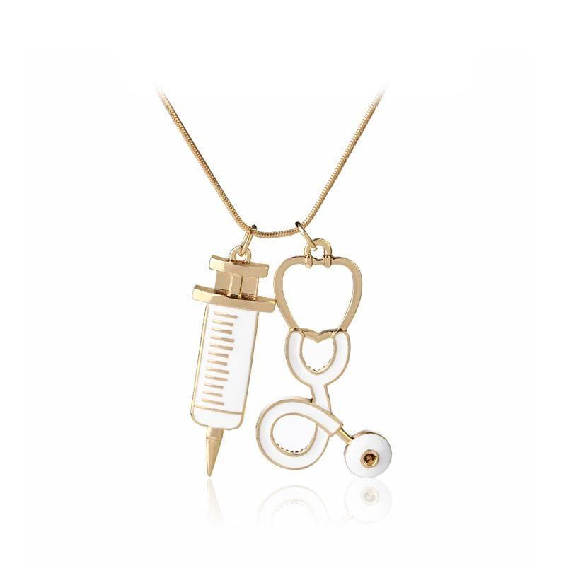 New fashion medical equipment necklace stethoscope necklace yiwu nihaojewelry wholesale NHMO208176