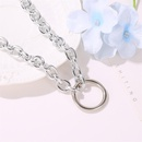New fashion creative simple circle neck chain choker exaggerated punk metal necklace clavicle chain NHMO208184