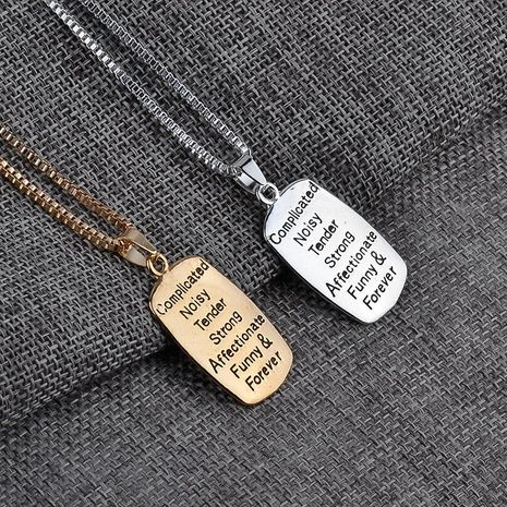 New Fashion Alphabet Necklace Mother Daughter Pendant Necklace Wholesale NHMO208189's discount tags