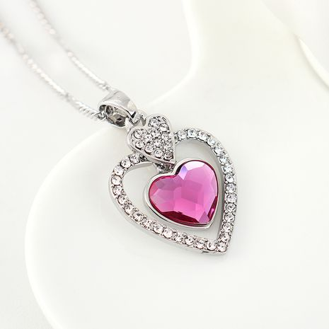 New fashion love crystal necklace yiwu nihaojewelry wholesale NHSE208215's discount tags
