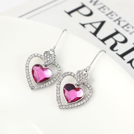New fashion love crystal earrings yiwu nihaojewelry wholesale NHSE208216's discount tags