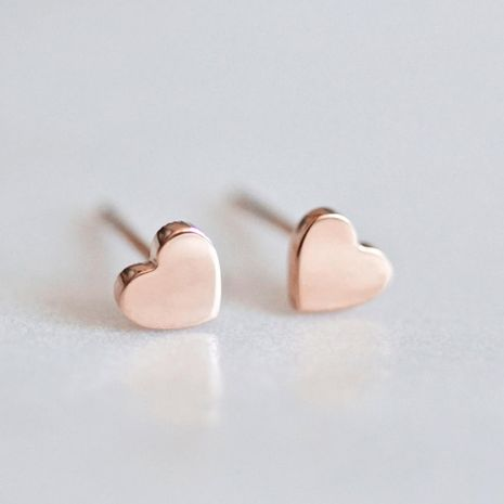 New fashion love earrings stainless steel gold plated ladies earrings wholesale NHUI208221's discount tags