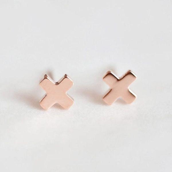 New fashion stainless steel fashion cross simple earrings yiwu nihaojewelry wholesale NHUI208223