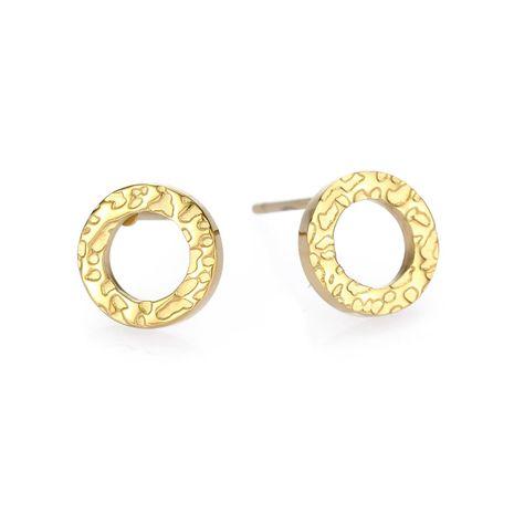 New fashion simple 316L stainless steel earrings geometric round earrings yiwu nihaojewelry wholesale NHUI208224's discount tags