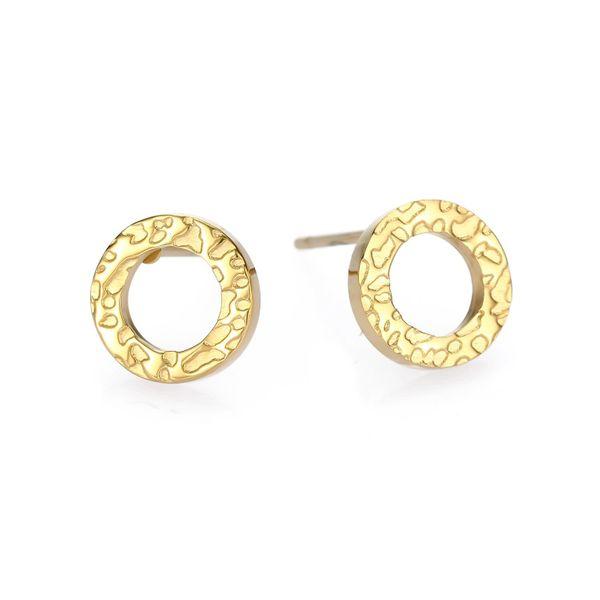 New fashion simple 316L stainless steel earrings geometric round earrings yiwu nihaojewelry wholesale NHUI208224