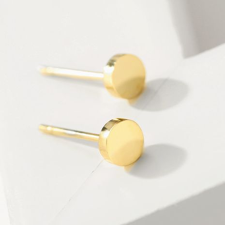 New fashion 316L stainless steel earrings female Korean fashion simple round earrings yiwu nihaojewelry wholesale NHUI208226's discount tags