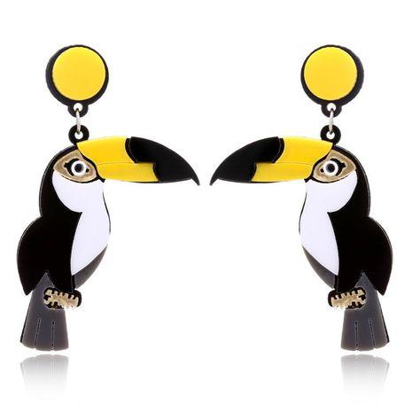 Korean new fashion exaggerated earrings punk hip-hop acrylic parrot woodpecker earrings yiwu nihaojewelry wholesale NHXI208228's discount tags