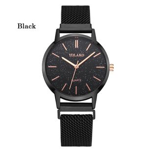 Korean steel mesh belt magnetic buckle watch fashion starry sky dial quartz watch wholesale NHLN208230's discount tags