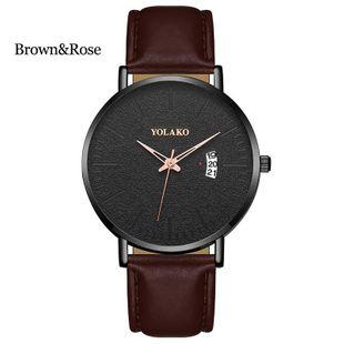 New fashion ultra-thin belt men's calendar watch large dial three hands quartz watch business casual watch NHLN208237's discount tags
