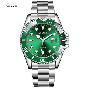 New fashion quartz watch men's steel belt watch waterproof belt calendar high-end business casual quartz watch NHLN208240's discount tags