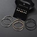 New fashion popular rhinestone pearl earrings diamond earrings combination sets wholesale wholesale yiwu nihaojewelry wholesale NHDM208260
