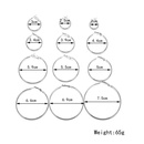 New fashion exaggerated metal large hoop earrings 12 pairs suit yiwu nihaojewelry wholesale NHDM208264