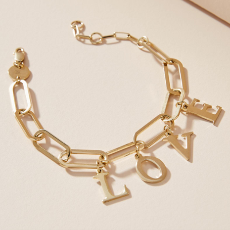 Customized products nihaojewelry yiwu china fashion alloy letters LOVE bracelet NHMD208655's discount tags