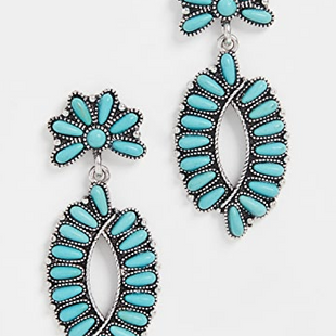 Customized products fashion ethnic style geometric flower earrings wholesale NHMD208646's discount tags