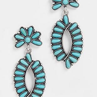 Productos personalizados moda étnica estilo flor geométrica pendientes al por mayor NHMD208646's discount tags