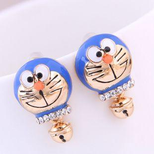 Korean fashion sweet OL bell cat earrings yiwu nihaojewelry wholesale NHSC208661's discount tags
