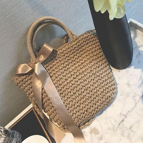 New Korean fashion woven bag shoulder messenger bag seaside leisure travel holiday female bag wholesale NHGA208374's discount tags