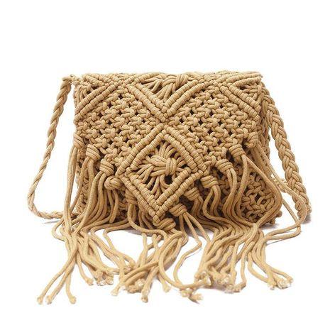 Nouvelle mode gland sac de paille petit sac carré épaule messager femme sac en gros NHGA208391's discount tags