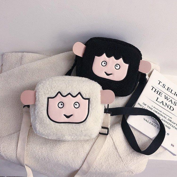 New fashion cute cute plush little sheep doll shoulder bag wild student mobile phone bag wholesale NHHX208550