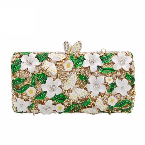 New Fashion Evening Bag Grease Flower Butterfly Clutch Bag Party Bag Party Evening Bag NHJU208591's discount tags