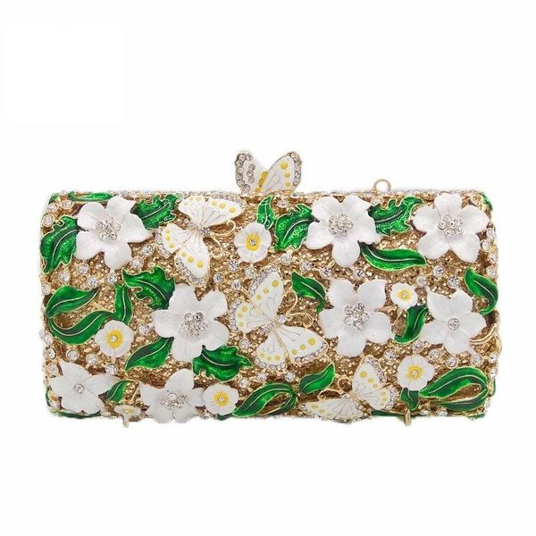 New Fashion Evening Bag Grease Flower Butterfly Clutch Bag Party Bag Party Evening Bag NHJU208591