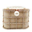 New fashion female bag metal bucket bag pearl diamond bag handbag with chain bag wholesale NHJU208593