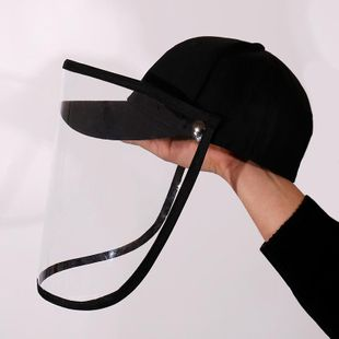 Anti-spray and anti-saliva hats summer new products Korean big eaves transparent epidemic protection hat wholesale NHDM208599's discount tags