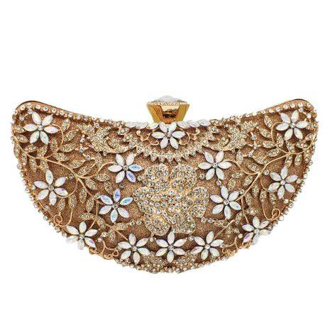 New Fashion Evening Bag Moon Shape Diamond Clutch Bag Banquet Bag Wholesale NHJU208602's discount tags