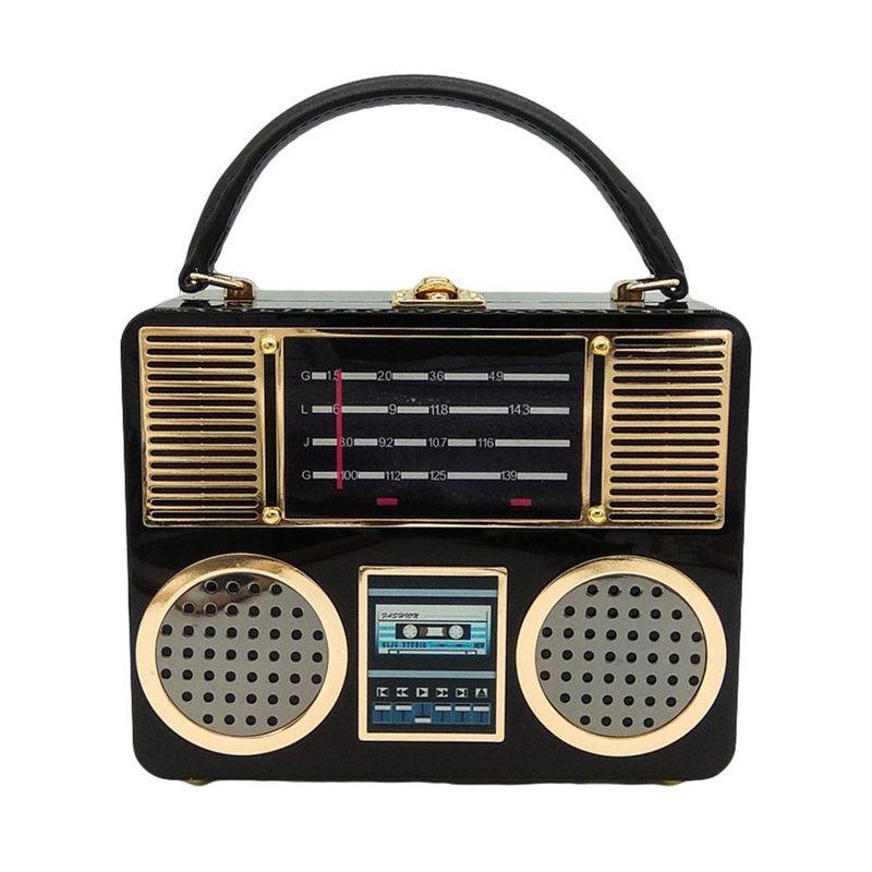 FGG totes bag Europe and America Acrylic Clutch Bag Radio Bag Recorder Bag Dinner Bag Handbag NHJU208603