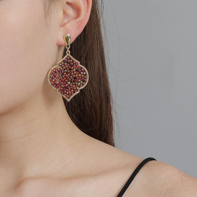 New fashion earrings ethnic wind boho element geometric rice beads earrings for women wholesale NHJJ208764