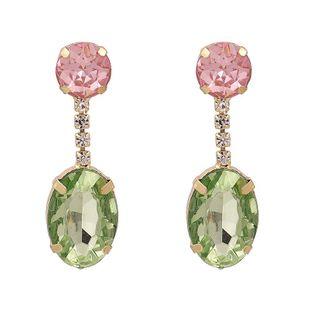 Nueva moda coreana gota de agua pendientes simples de diamantes para mujeres al por mayor NHJJ208777's discount tags